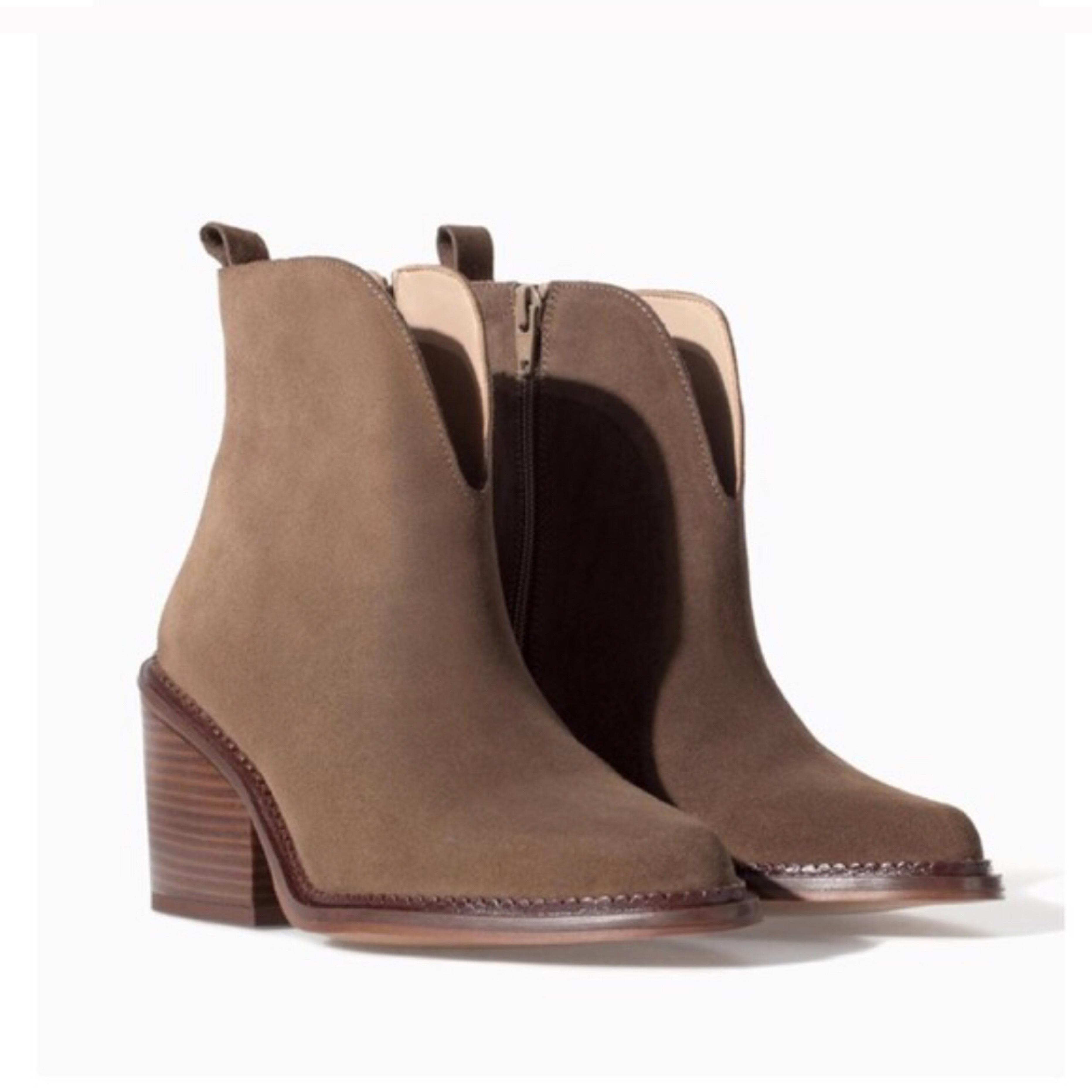 zara bottes / chaussures taille taille taille ue 38 (environ 8) ordinaires (m, b) 15bc96