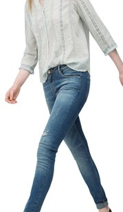 Zara Distressed Destroyed Skinny Jeans-Distressed