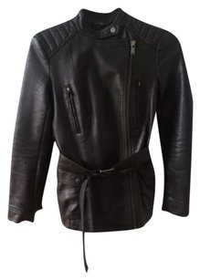 Zara Faux Leather Leather Blac Leather Jacket