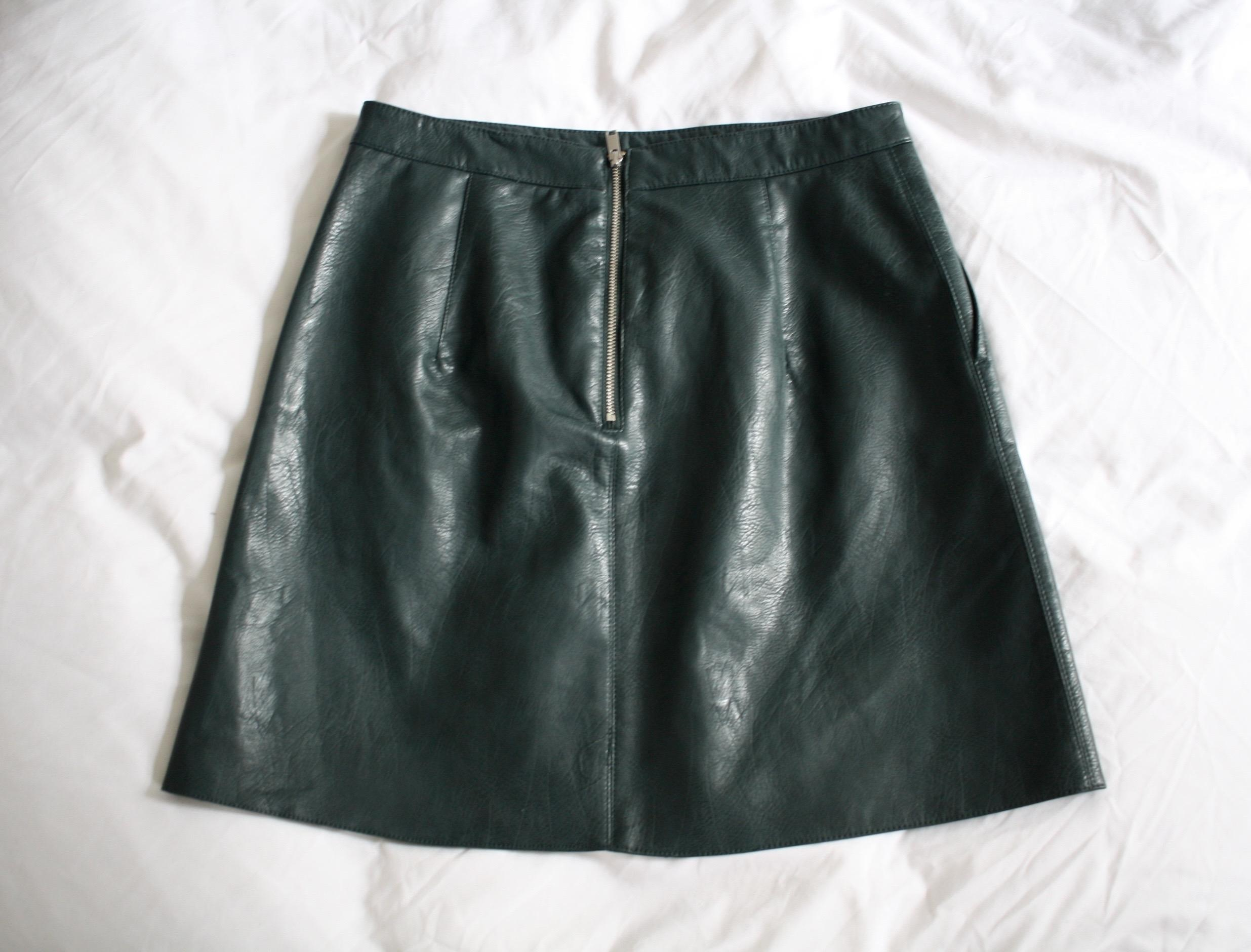 Zara A-line Faux Leather Mini Skirt - 36% Off Retail