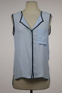 Zara Woman Womens Color Top Blue