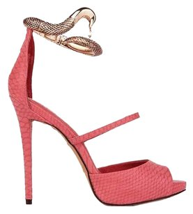 ZIGI NEW YORK Snake Heel Red Sandals