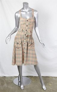 ZIMMERMANN short dress Multi-Color Ingenue Pleat Nude Check Plaid Sleeveless 0 on Tradesy