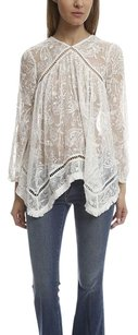 ZIMMERMANN Zimmerman Henna Float Fringe Top White
